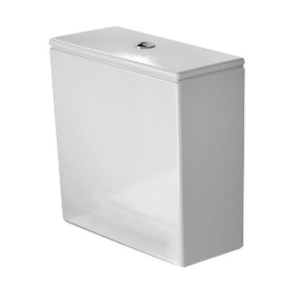 Réservoir de toilette en céramique DuraStyle de Duravit, 1,28 gpc avec levier de chasse central supérieur, blanc