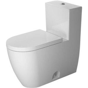 Toilette monopièce Duravit ME par Starck, blanche, siège vendu séparément