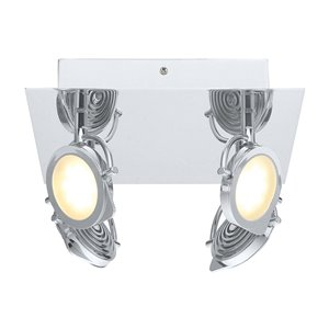 EGLO Orotelli LED Ceiling Light - 4-Light - Chrome Finish with Satin Glass