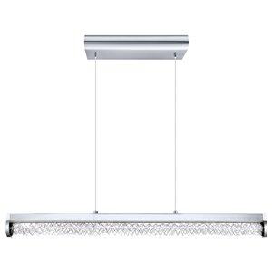 Luminaire suspendu Trevelo de EGLO DEL, Fini chrome avec Aluminium et verre clair