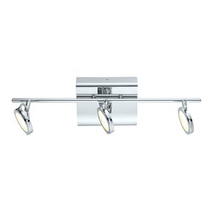 EGLO Orotelli LED Track Light - 3-Light - Chrome Finish with Satin Glass - 21,88-in
