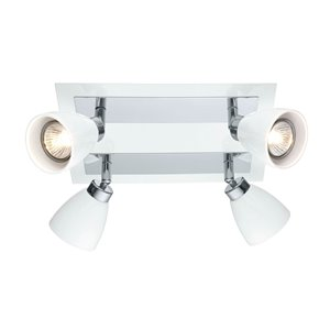 EGLO Ciotti Ceiling Light - 4-Light - White & Chrome Finish