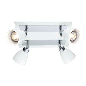 Plafonnier Ciotti de EGLO, 4 lumières, fini blanc et chrome