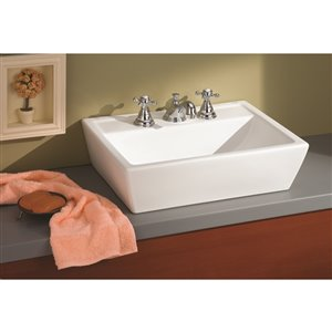 Sentire Vessel Sink - Rectangular - 16-in x 21.25-in - Vitreous China - White