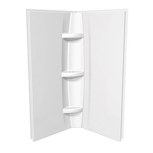 MAAX 2-Piece 36-in width Acrylic Shower Wall Set in White