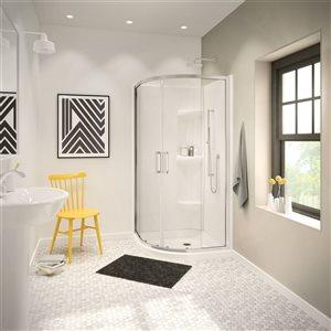 Ensemble de murs de douche MAAX  36 po en acrylique 2-pièces en blanc
