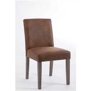 Soho Erikson Dining Chair - Faux-Leather Buffalo - Set of 2