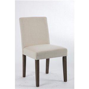Soho Erikson Linen Dining Chair - Beige Linen - Set of 2