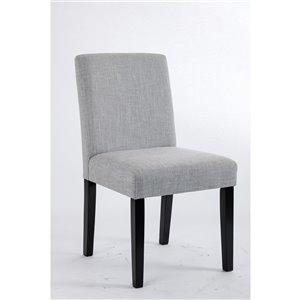 Soho Erikson Linen Dining Chair - Light Grey - Set of 2