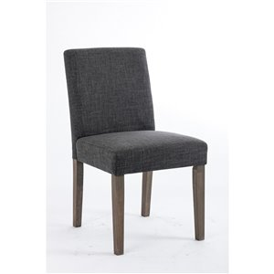 Soho Erikson Linen Dining Chair - Dark Grey - Set of 2
