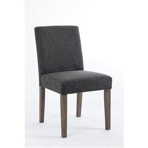 Chaise de salle à manger Erikson Soho, gris foncé, ens. de 2