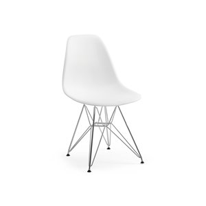 Soho Eiffel Dining Chair - White - Set of 2