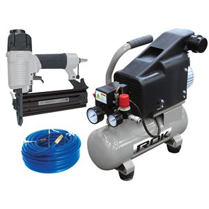 ROK Air Compressor with 2-in Brad Nailer Combo Kit