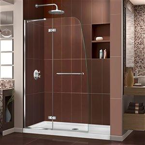 DreamLine Aqua Ultra Shower Door/Base - 48-in x 74-in - Chrome