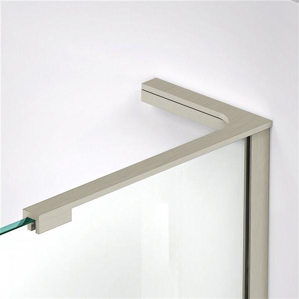 DreamLine Frameless Shower Enclosure Kit - 42-in - Nickel
