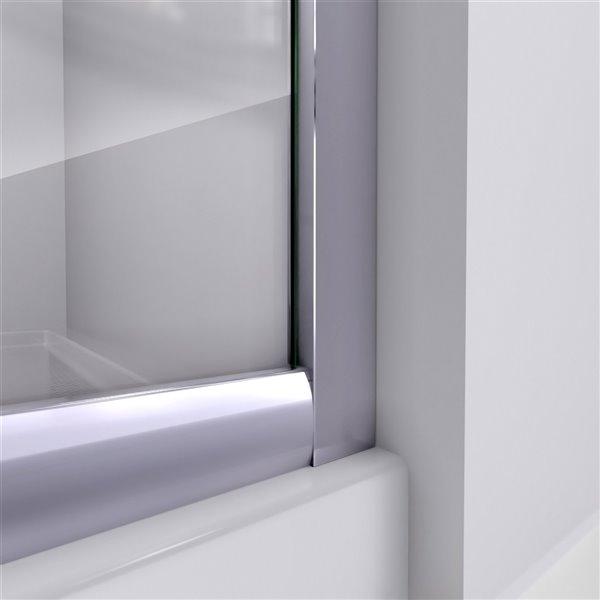 DreamLine Prime Shower Enclosure Kit - 38-in - Chrome
