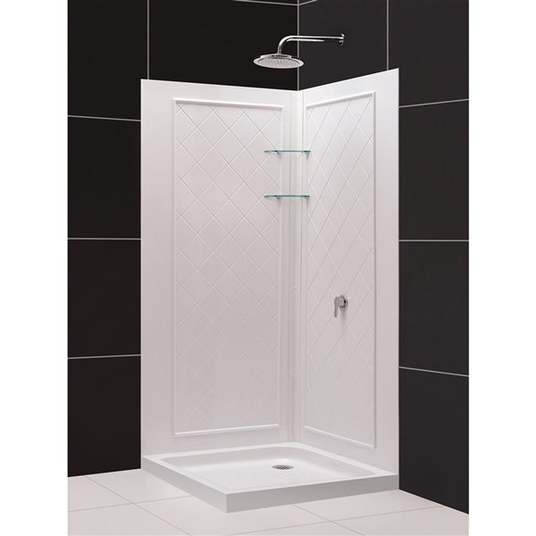Base de douche et panneaux DreamLine QWALL-4, 36 po