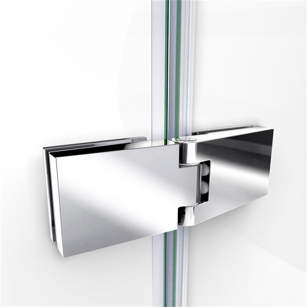 Porte douche et base de DreamLine Aqua Ultra, 60 po, chrome