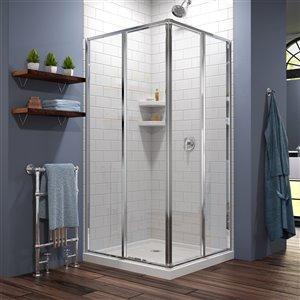 DreamLine Cornerview Shower Enclosure Kit - 42-in - Chrome