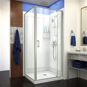 DreamLine Flex Shower Enclosure Kit - 36-in - Nickel