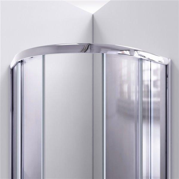 DreamLine Prime Pivot Shower Enclosure Kit  - 38-in - Chrome