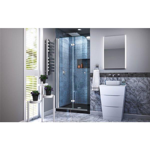 DreamLine Aqua Fold Shower Door and Base - 32-in - Chrome