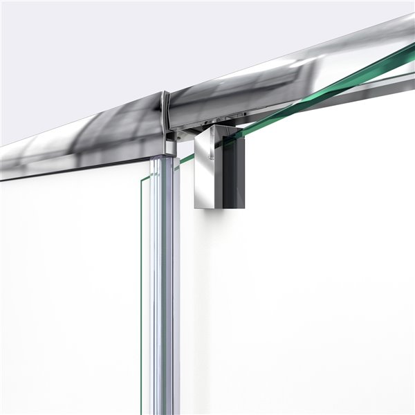 Porte douche coulissannte/base Flex, 32 po x 60 po, chrome