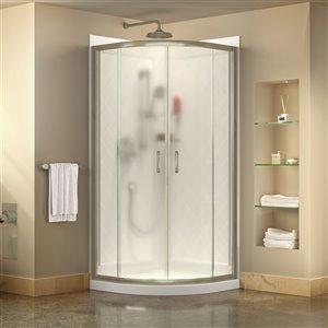 DreamLine Prime Shower Enclosure Kit - 33-in x 74.5-in - Nickel