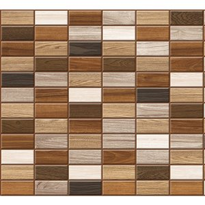 Dundee Deco PVC 3D Wall Panel - Brown, Grey, Beige and Off-White Faux Planks - 3.2-ft x 1.6-ft
