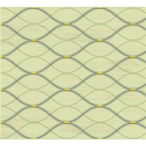 Dundee Deco PVC 3D Wall Panel - Olive Green Faux Waves - 3.2-ft x 1.6-ft