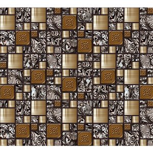 Dundee Deco  PVC 3D Wall Panel - Bronze and Tan Mosaic - 3.2-ft x 1.6-ft
