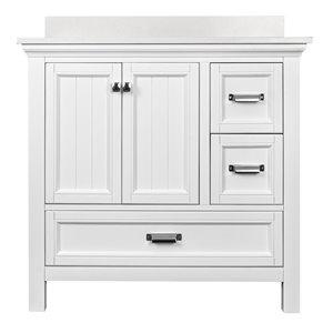 Ensemble meuble-lavabo Brantley de Foremost, 36 po, blanc