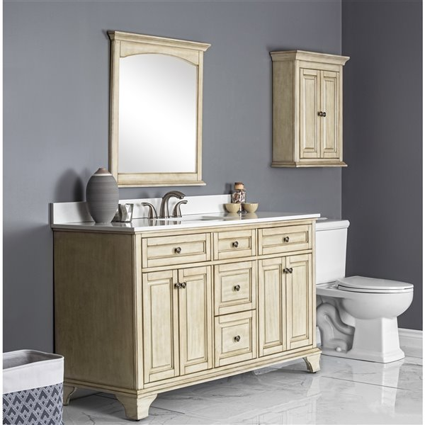Foremost Corsicana Vanity Combo 60 In Antique White Cnawvt6122 Rona