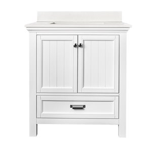 Ensemble meuble-lavabo Brantley de Foremost, 30 po, blanc