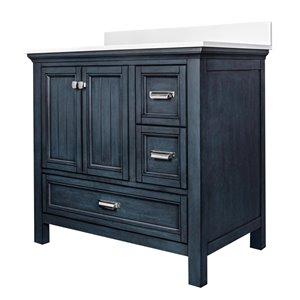 Ensemble meuble-lavabo Brantley de Foremost, 36 po, bleu