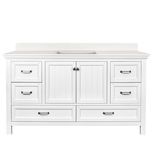 Ensemble meuble-lavabo Brantley de Foremost, 60 po, blanc