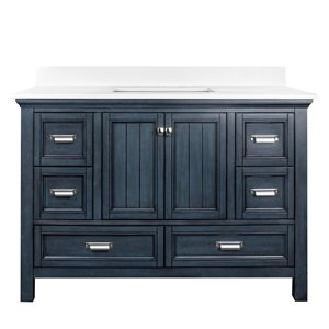 Ensemble meuble-lavabo Brantley de Foremost, 48 po, bleu