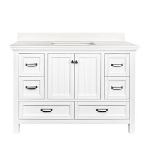 Ensemble meuble-lavabo Brantley de Foremost, 48 po, blanc