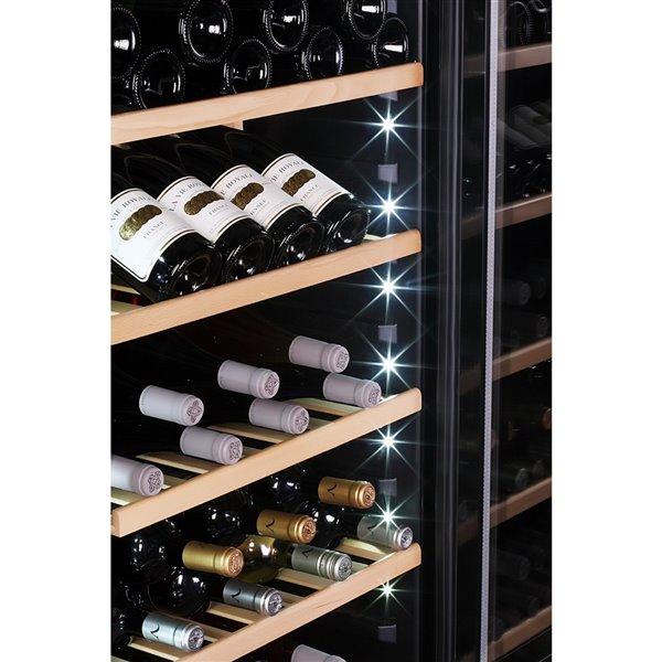 Refroidisseur à vin double zone de KUCHT, 84 bouteilles