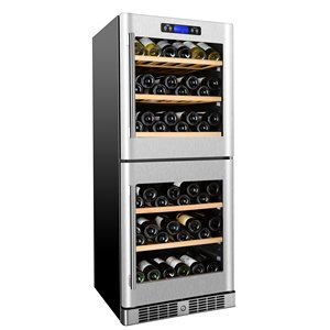 KUCHT 84-Bottle Dual Zone Wine Cooler