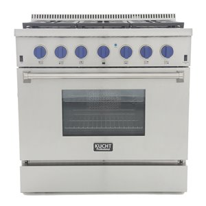 KUCHT Professional 36-in 5.2 cu. ft. Dual Fuel Range for Natural Gas - 6 burners - Stainless Steel