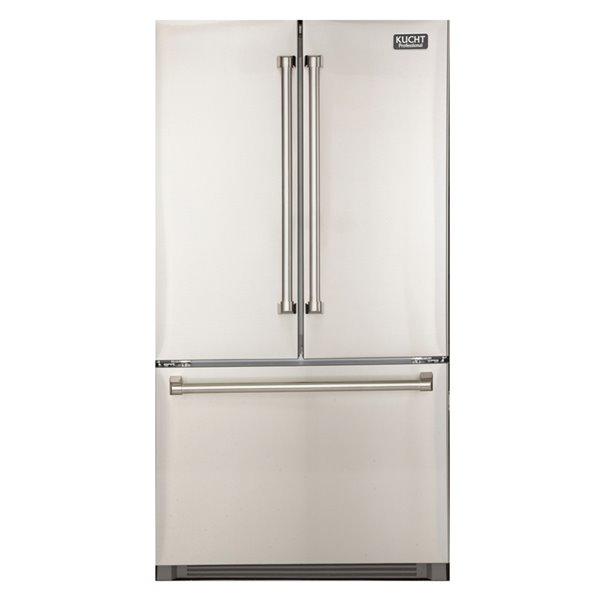 Réfrigérateur KUCHT 26,1 pi³  à porte française avec machine à glace intérieure
