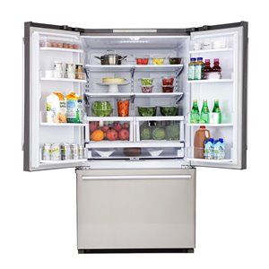 KUCHT 26.1 cu. ft. French Door Refrigerator with Interior Ice Maker