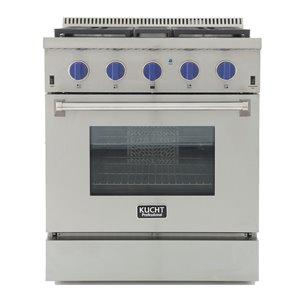 Cuisinière bi-combustible à 4 bruleurs Professional KUCHT pour gas propane, 36 po, acier inoxydable