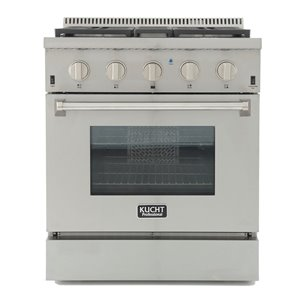 KUCHT Professional 30-in Dual Fuel Range for Propane Gas  - 4 burners - Stainless Steel