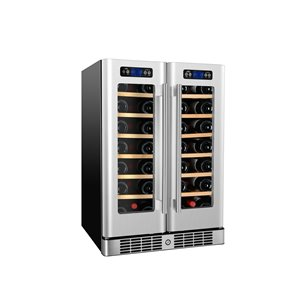KUCHT 40-Bottle Dual Zone Wine Cooler