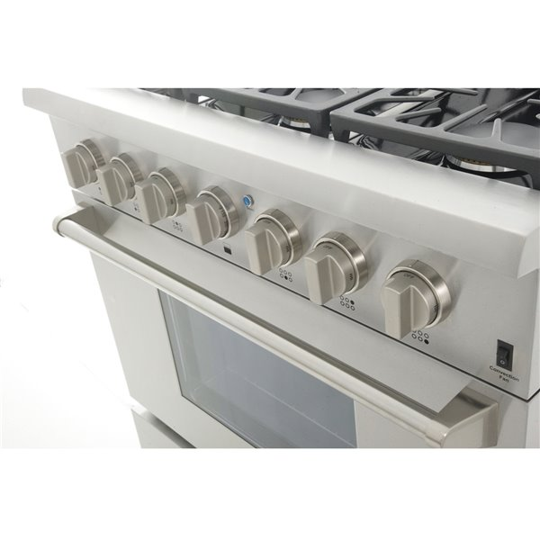 KUCHT Professional 36-in 5.2 cu. ft. Dual Fuel Range for Propane Gas  - 6 burners - Stainless Steel