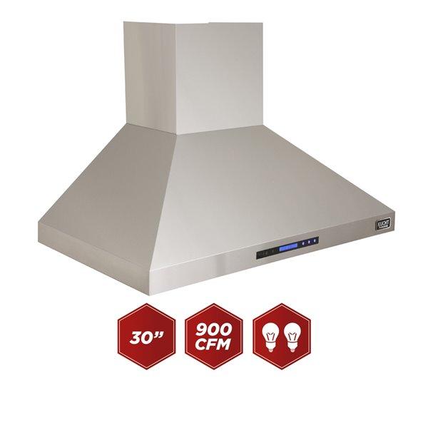 Kucht 30 In Professional 900 Cfm Ducted Wall Mount Range Hood Krh3010a Rona