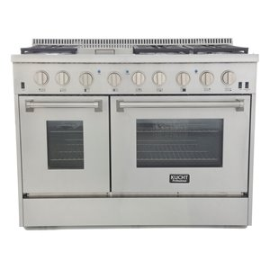 KUCHT 48-in 6.7 cu. ft. Dual Fuel Range for Natural Gas w/ Classic Silver Knobs