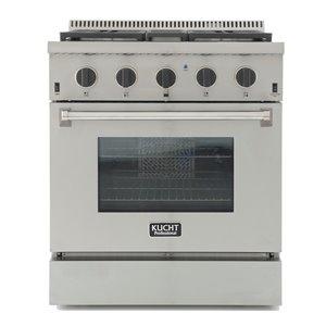 Cuisinière bi-combustible à 4 bruleurs Professional KUCHT pour gas naturel, 30 po, acier inoxydable